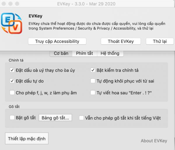 Cài đặt Phần mềm EVKey