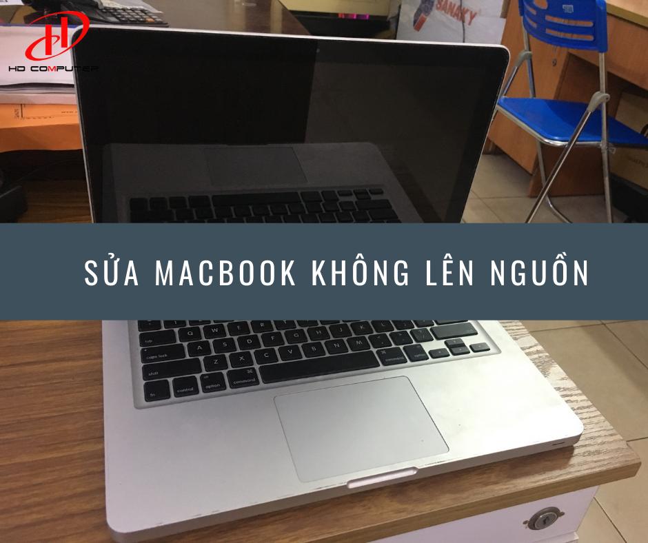 Hình ảnh macbook sập nguồn bật không lên