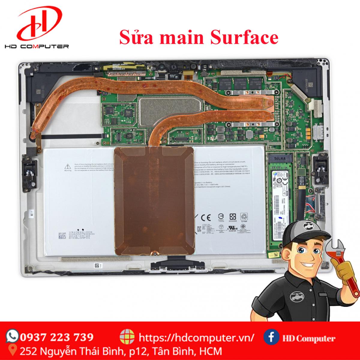 Sửa main surface