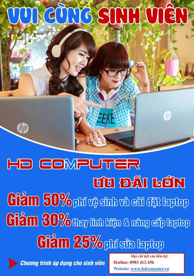 Sửa laptop giá ưu đãi sinh viên