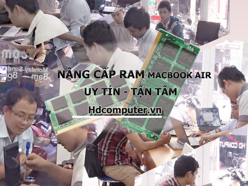 Địa chỉ nâng cấp RAM Macbook Air uy tín tại HCM