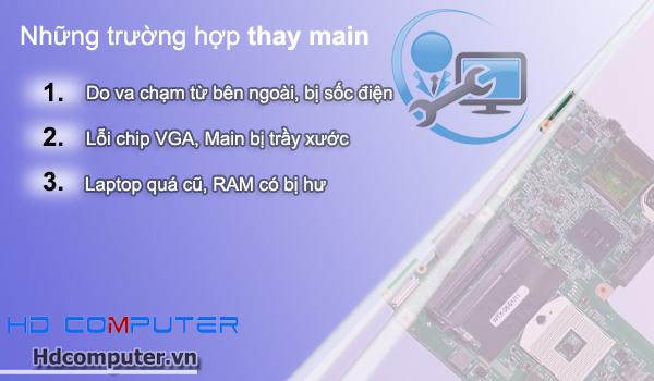 Sửa chữa - thay Main Laptop uy tín tại HCM