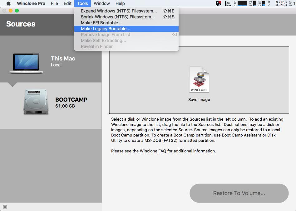 Hướng dẫn cài Win 7, 8 và Win 10 trên Mac bằng Winclone