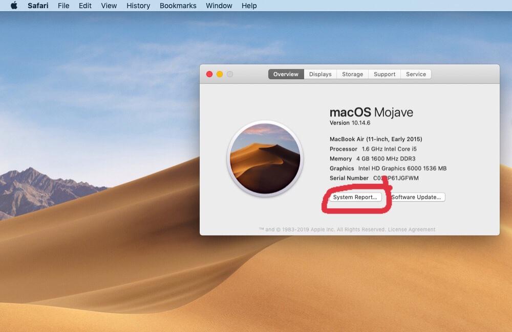 Cách xem số lần sạc pin macbook