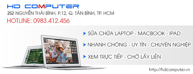 Cơ hội vàng tiết kiệm cả triệu đồng khi dùng dịch vụ laptop tại HDCOMPUTER