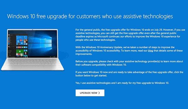 Vẫn có thể nâng cấp lên Windows 10 dù đã hết hạn 29/07