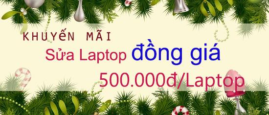 Chương trình sửa chữa Laptop đồng giá 500,000đ tại HD computer