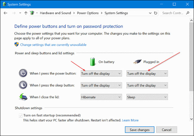 Cách tắt màn hình Laptop sử dụng Windows 10