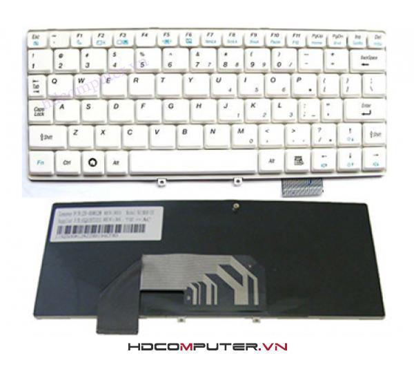 Bàn phím Laptop lenovo S9, S10 màu trắng