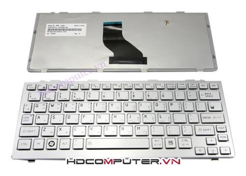 Bàn phím Laptop Toshiba NB200, NB205 Mini màu trắng
