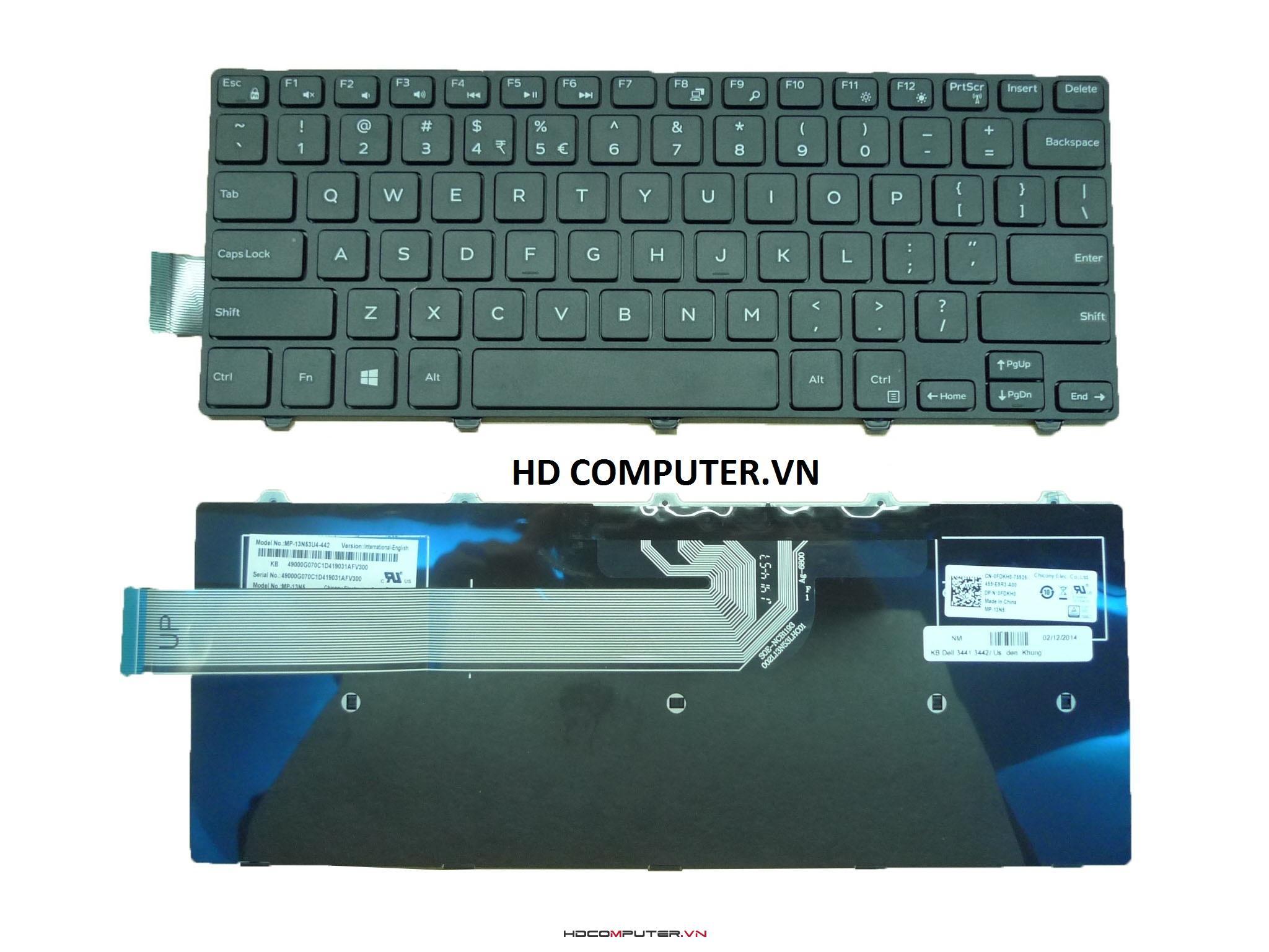 Bàn phím laptop Dell Inspiron 3441, 3442, 3443, 5445,5442,5447,5448 NEW