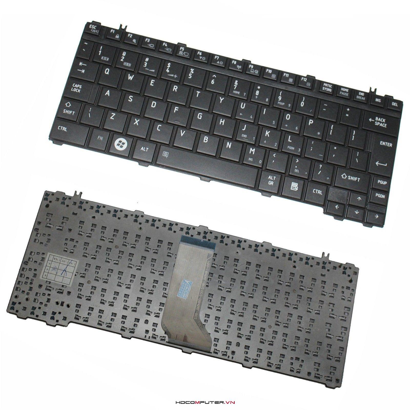 bàn phím toshiba Satellite U500, U505, T110, T130, T135, T135D, Portege M900. new